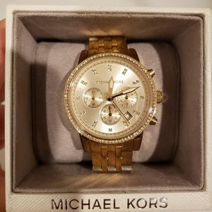 Gold Tone Dial Chronograph Ladies Watch
